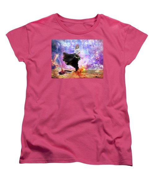 Worship Warrior Women's T-Shirt (Standard Cut) by Dolores Develde