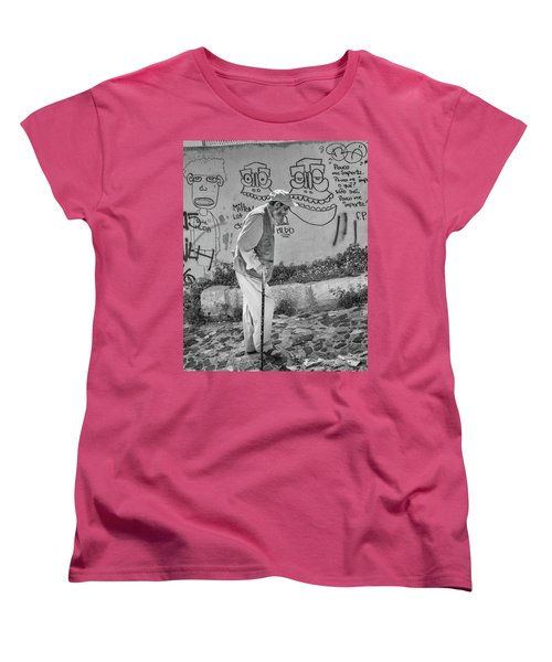 Women's T-Shirt (Standard Cut) featuring the photograph Writing On The Wall by Patricia Schaefer