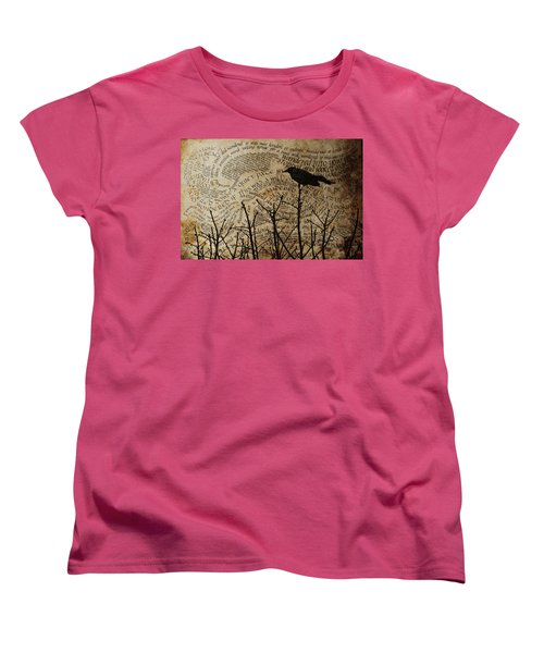 Women's T-Shirt (Standard Cut) featuring the photograph Written On The Wind by Jan Amiss Photography