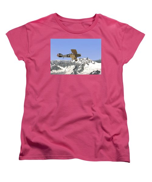 Women's T-Shirt (Standard Cut) featuring the photograph Ww1 - Bristol Fighter by Pat Speirs