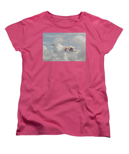 Women's T-Shirt (Standard Cut) featuring the photograph Ww1 - The Fokker Scourge - Eindecker by Pat Speirs