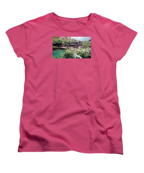 Yangtze Village Women's T-Shirt (Standard Cut) by Vicky Tarcau