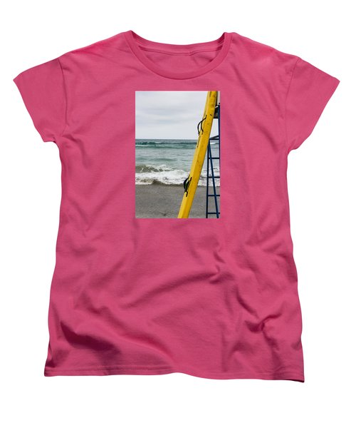 Women's T-Shirt (Standard Cut) featuring the photograph Yellow At The Ready by Randy Bayne