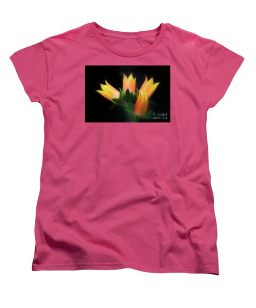 Women's T-Shirt (Standard Cut) featuring the photograph Yellow Cactus Flowers by Darleen Stry