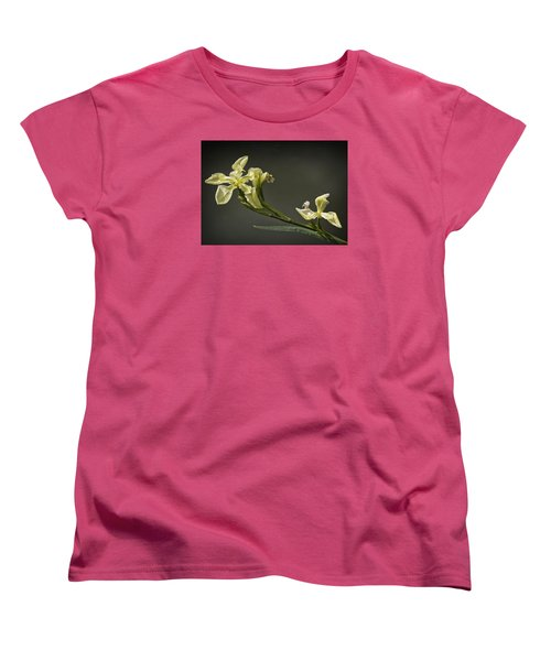 Women's T-Shirt (Standard Cut) featuring the photograph Yellow Iris by Shirley Mitchell