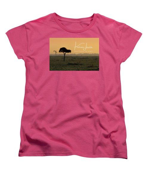 Women's T-Shirt (Standard Cut) featuring the photograph Yellow Mara Dawn by Karen Lewis
