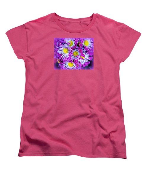 Yellow Purple And White Women's T-Shirt (Standard Cut)