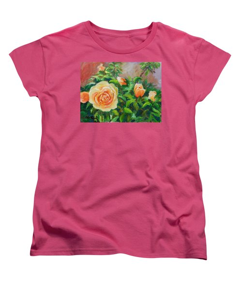 Yellow Roses Women's T-Shirt (Standard Cut) by William Reed