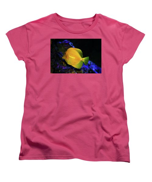 Women's T-Shirt (Standard Cut) featuring the photograph Yellow Tang by Anthony Jones