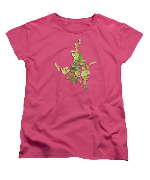 Yellow Tiny Flowers Women's T-Shirt (Standard Cut) by Ivana Westin