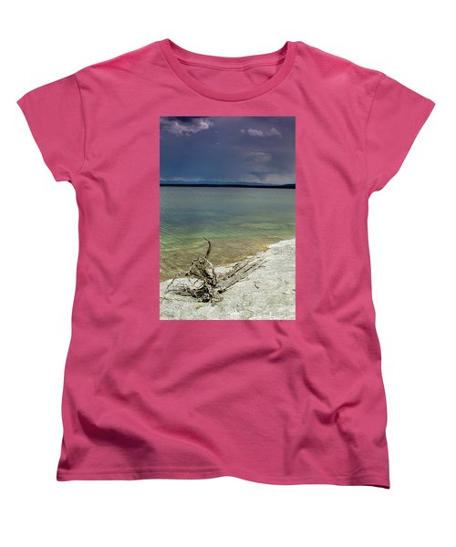 Women's T-Shirt (Standard Cut) featuring the photograph Yellowstone Lake by Dawn Romine