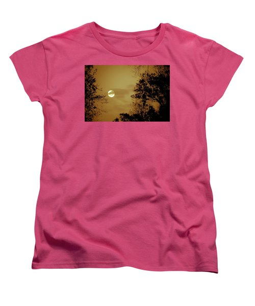 Yesteryears Moon Women's T-Shirt (Standard Cut) by DigiArt Diaries by Vicky B Fuller