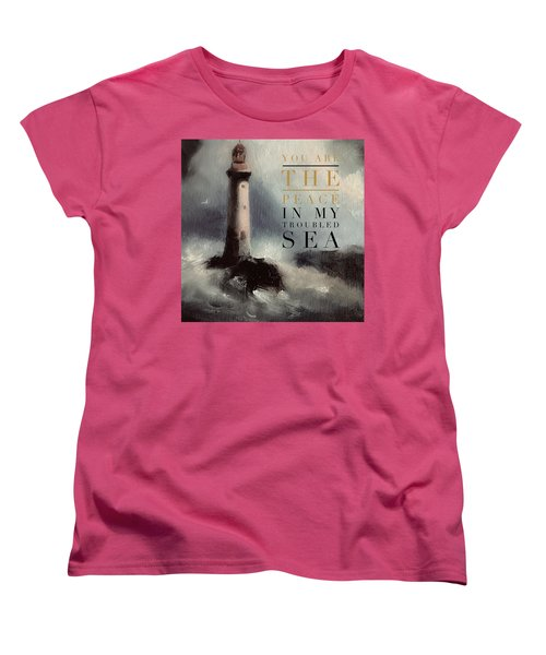 You Are The Peace In My Troubled Sea Lighthouse Women's T-Shirt (Standard Cut)