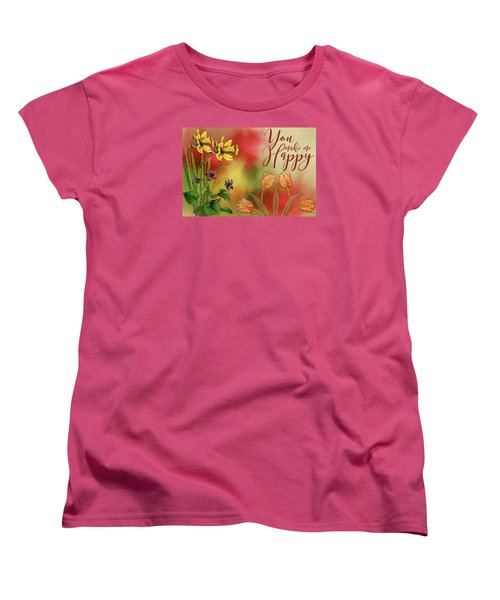 You Make Me Happy Women's T-Shirt (Standard Cut) by Diana Boyd
