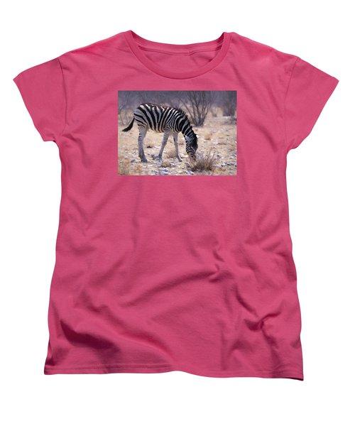 Women's T-Shirt (Standard Cut) featuring the digital art Young Plains Zebra by Ernie Echols