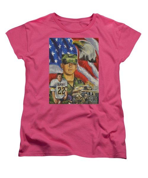 Young Warrior Women's T-Shirt (Standard Cut) by Ken Pridgeon
