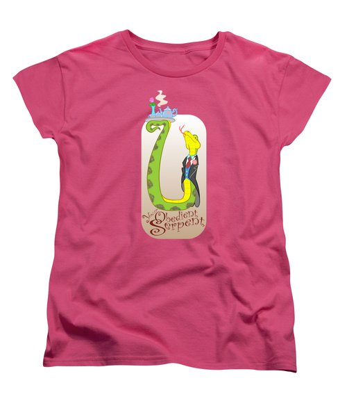 Women's T-Shirt (Standard Cut) featuring the digital art Your Obedient Serpent by J L Meadows