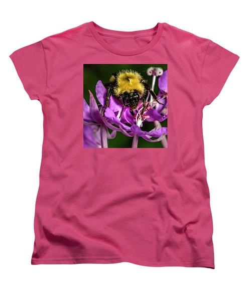 Women's T-Shirt (Standard Cut) featuring the photograph Yummy Pollen by Darcy Michaelchuk