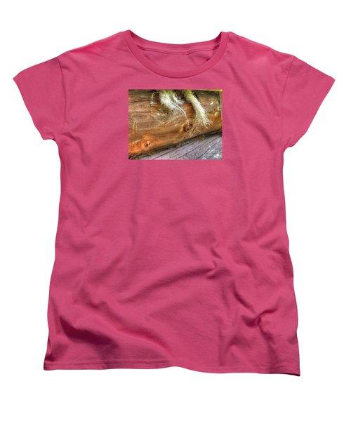 Women's T-Shirt (Standard Cut) featuring the pyrography Yury Bashkin Rustic Wall by Yury Bashkin