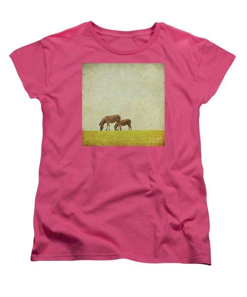 Zebra Women's T-Shirt (Standard Cut) by Lyn Randle