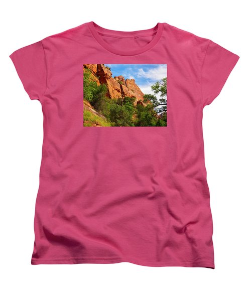 Zion National Park 1 Women's T-Shirt (Standard Cut) by Penny Lisowski