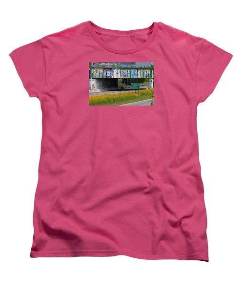 Zoo Mural Women's T-Shirt (Standard Cut) by Michiale Schneider