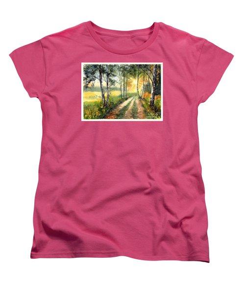 Radiant Sun On The Autumn Sky Women's T-Shirt (Standard Fit)