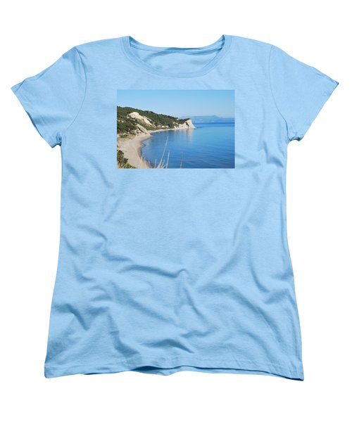 Women's T-Shirt (Standard Cut) featuring the photograph  Beach by George Katechis