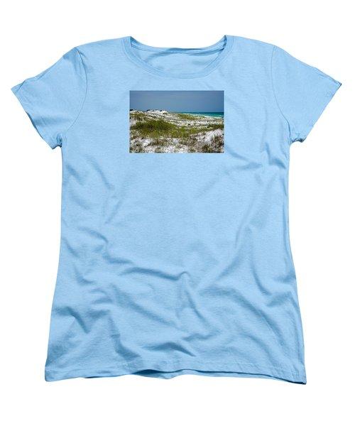 Women's T-Shirt (Standard Cut) featuring the photograph  Dunes    Panama City Beach  by Susan  McMenamin
