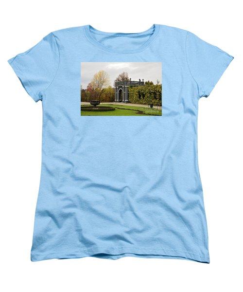 Women's T-Shirt (Standard Cut) featuring the photograph  Garden Gate Schonbrunn Palace Vienna Austria by Imran Ahmed