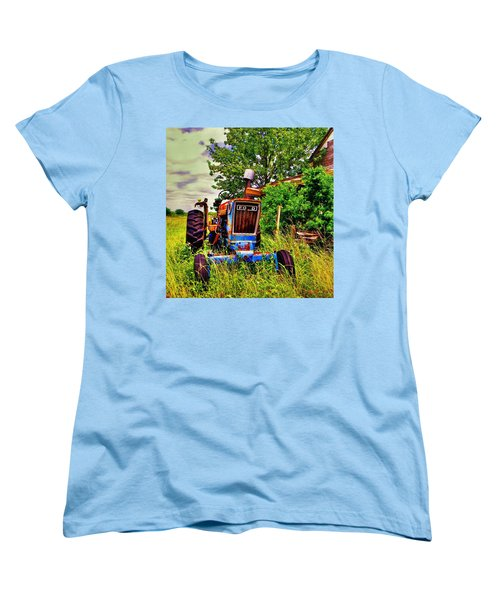 Old Ford Tractor Women's T-Shirt (Standard Cut) by Savannah Gibbs