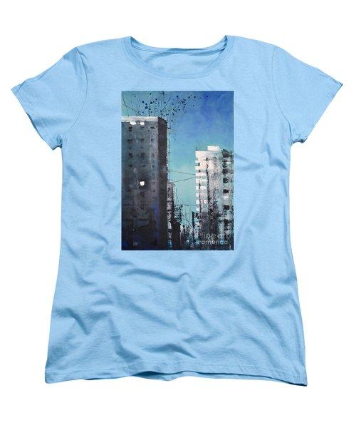 Women's T-Shirt (Standard Cut) featuring the painting  Rotterdam by Maja Sokolowska