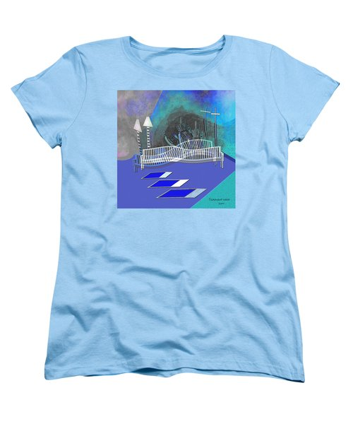 112 This Earthquake Feeling   Women's T-Shirt (Standard Cut) by Irmgard Schoendorf Welch