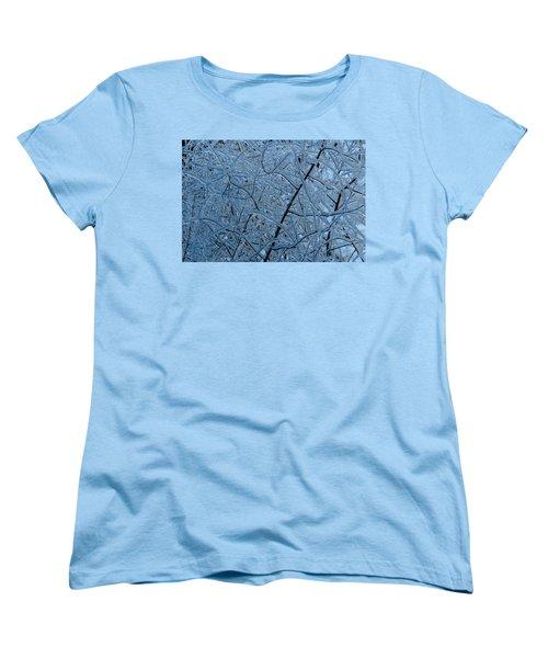Vegetation After Ice Storm  Women's T-Shirt (Standard Cut) by Daniel Reed