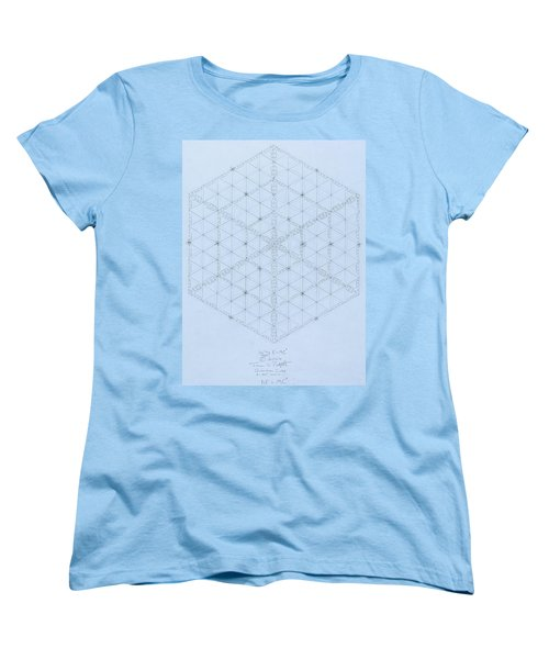 Why Energy Equals Mass Times The Speed Of Light Squared Women's T-Shirt (Standard Cut) by Jason Padgett