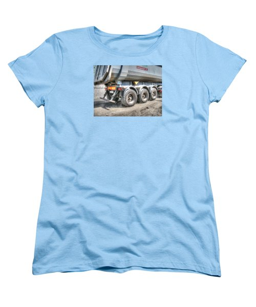 Women's T-Shirt (Standard Cut) featuring the pyrography  Workers At The Construction Site by Yury Bashkin