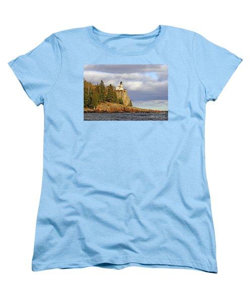 0376 Split Rock Lighthouse Women's T-Shirt (Standard Cut) by Steve Sturgill