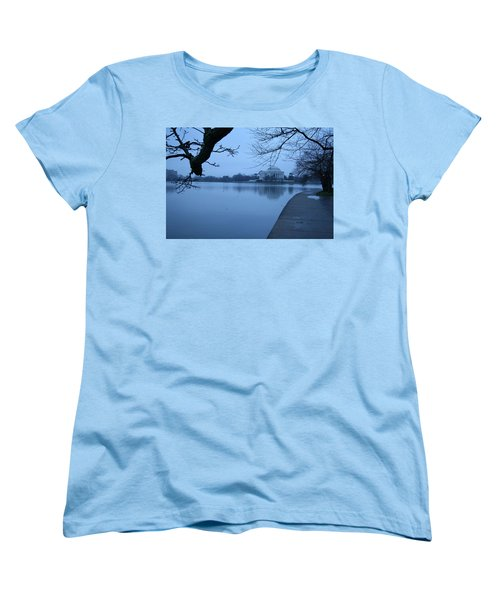 Women's T-Shirt (Standard Cut) featuring the photograph A Blue Morning For Jefferson by Cora Wandel