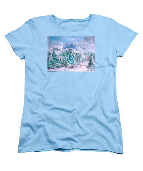 Women's T-Shirt (Standard Cut) featuring the painting A Natural Christmas by Laurie L