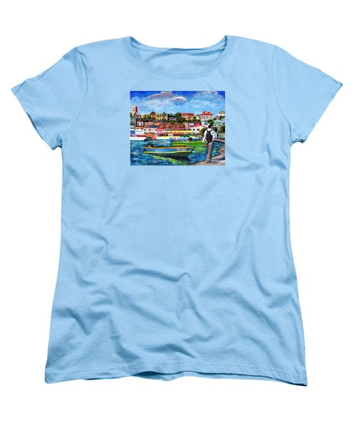 A Stroll On The Carenage Women's T-Shirt (Standard Cut) by Laura Forde