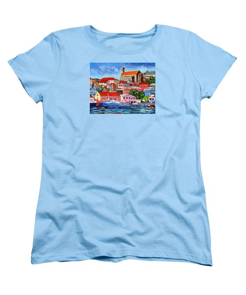 A View Of The Carenage Women's T-Shirt (Standard Cut) by Laura Forde