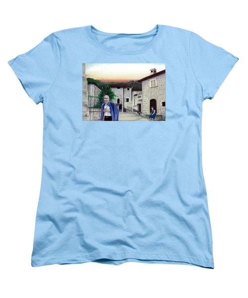 Women's T-Shirt (Standard Cut) featuring the painting A Walk With Dante by Albert Puskaric