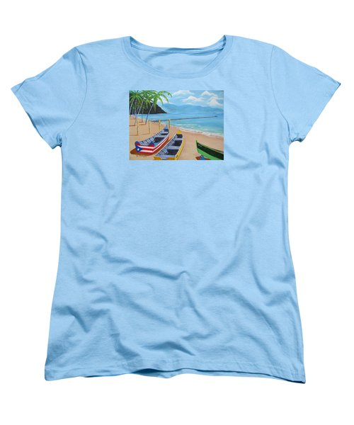 Aguadilla Crashboat Beach Women's T-Shirt (Standard Cut) by Luis F Rodriguez