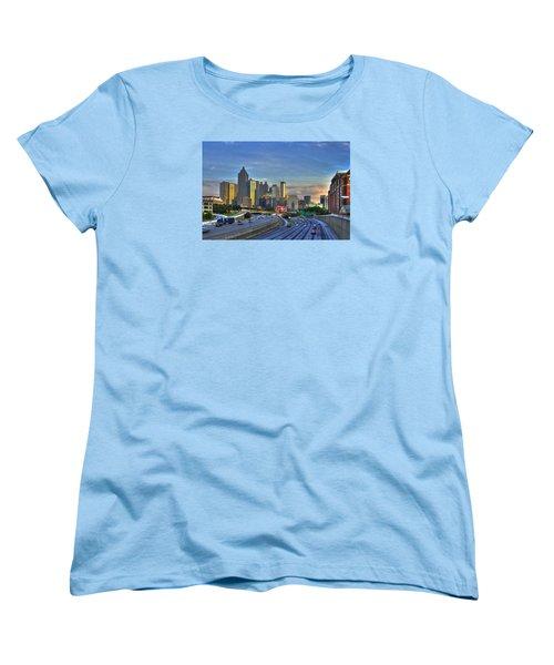 Atlanta Sunset Reflections Women's T-Shirt (Standard Cut) by Reid Callaway