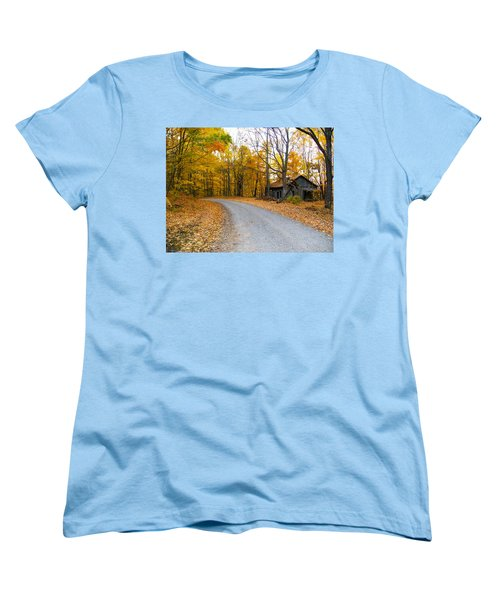Autumn And The Old House Women's T-Shirt (Standard Cut) by Nick Kirby