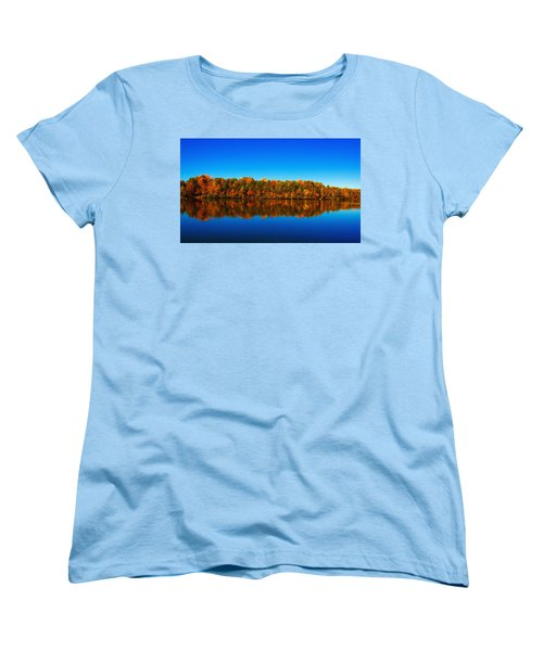 Autumn Reflections Women's T-Shirt (Standard Cut) by Andy Lawless
