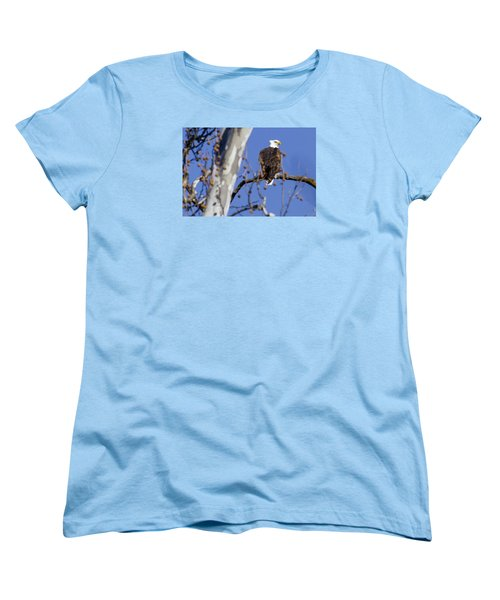 Bald Eagle 2 Women's T-Shirt (Standard Cut) by David Lester
