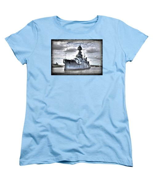Battleship Texas Women's T-Shirt (Standard Cut) by Savannah Gibbs