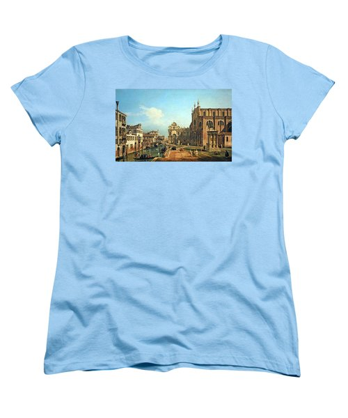 Bellotto's The Campo Di Ss. Giovanni E Paolo In Venice Women's T-Shirt (Standard Cut) by Cora Wandel