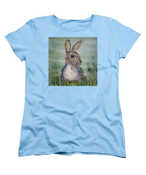 Bunny Rabbit Women's T-Shirt (Standard Cut) by Ella Kaye Dickey